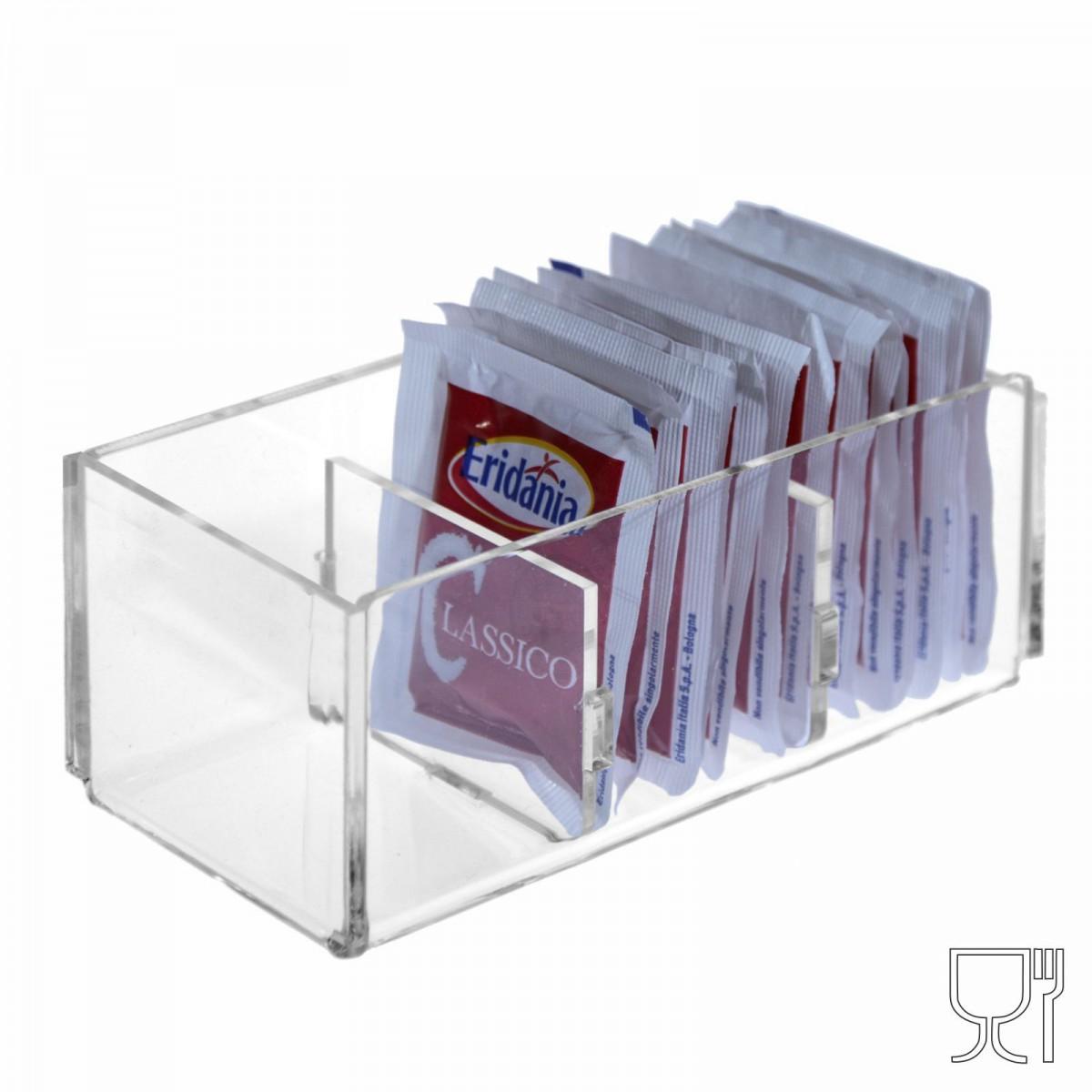 Zuckertüten-Halter aus durchsichtigem Plexiglass mit sechs Fächern - CM(LxPxH): 12.5x6x5