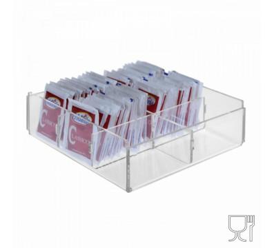 E-228 POB-D - Porta bustine zucchero capacità 6 postazioni - CM(LxPxH): 17x17x5
