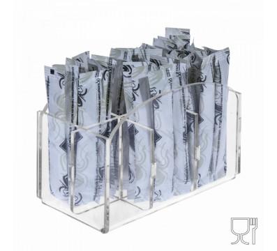 Porta bustine zucchero stick capacità 6 postazioni - CM(LxPxH): 12.5x7x10