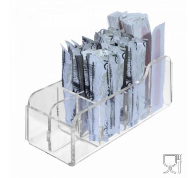 E-228 POB-H - Porta bustine zucchero stick e palette capacità 8 postazioni - CM(LxPxH): 16.5x6x6