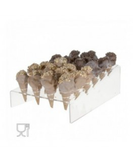 Clear and coloured acrylic countertop mini ice-cream cone...