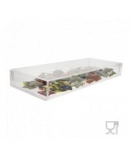 E-252 POC - Porta cialde caffè in plexiglass trasparente - Misure: 70 x 36 x H11.5 cm