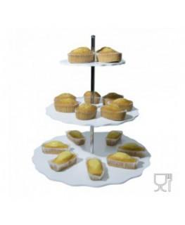 E-273 PCN - Espositore porta plumcake in plexiglass colorato a 3 ripiani