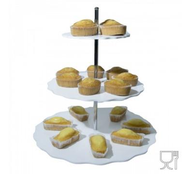 Espositore porta plumcake in plexiglass colorato a 3 ripiani