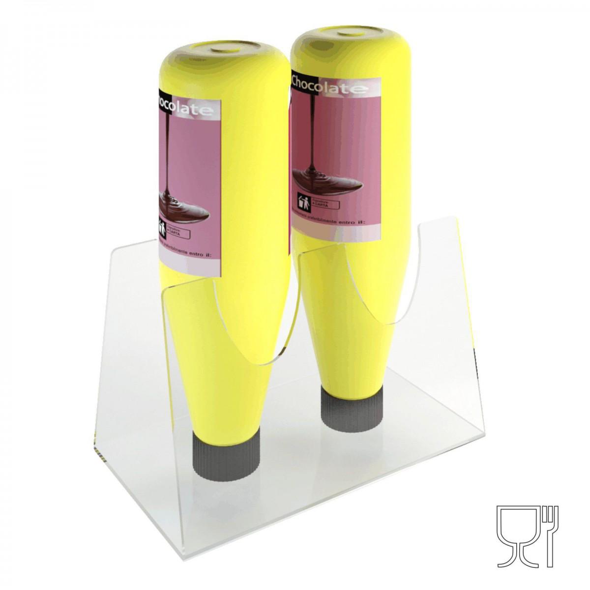E-308 - Espositore porta topping in plexiglass trasparente