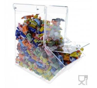 Espositore silos per caramelle in plexiglass trasparente