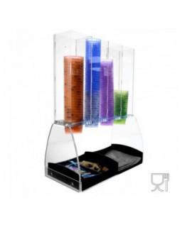 Acrylic ice cream cup display – 4 Columns Dimensions:...