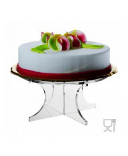 Clear acrylic shelf for cakes