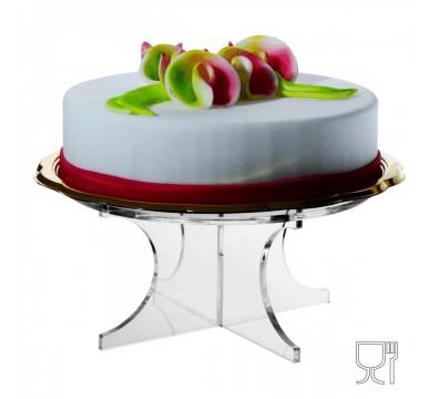 Clear acrylic shelf for cakes