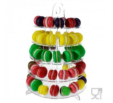 Macarons-Ständer drehbar aus Plexiglas