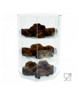 Octagonal acrylic countertop display case – 3...