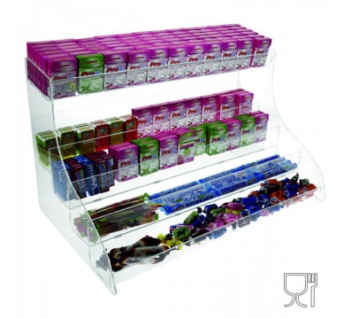 5-Tier acrylic countertop candy bin Dimensions: 24''Wx14.17''Dx14.17''T