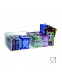 E-394 - Espositore in plexiglass trasparente da banco per caramelle e oggetti vari