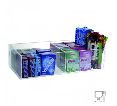 Clear acrylic countertop display for candies and other objects