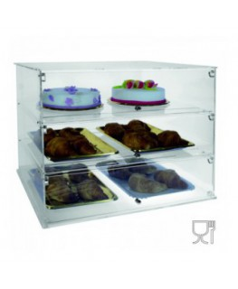 Clear Acrylic display case with 3 shelves
