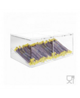 E-500 - Porta caramelle in plexiglass trasparente con Ripiano Inclinato