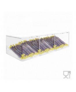 E-501 - Porta caramelle in plexiglass trasparente con Ripiano Inclinato