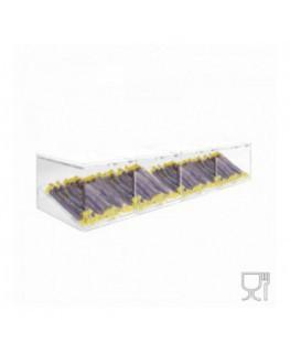 E-502 - Porta caramelle in plexiglass trasparente con Ripiano Inclinato