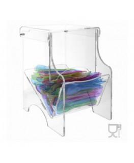 E-527 PPL - Porta palette e portacaramelle in plexiglass trasparente - CM(LxPxH): 11.5x20x21