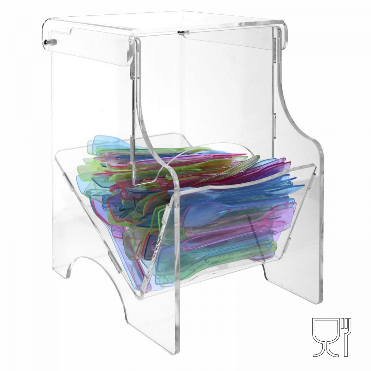 Porta palette e portacaramelle  in plexiglass trasparente - CM(LxPxH): 11.5x20x21