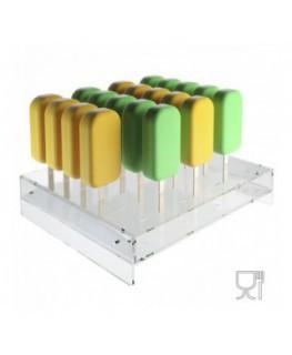E-582 PGS - Porta ghiaccioli stecco capacità 24 postazioni - CM(LxPxH): 31x27.5x7