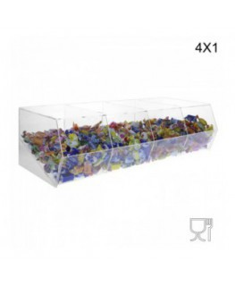 Clear Acrylic candy bin without door