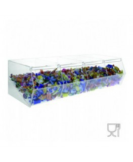 Clear acrylic candy bin with door