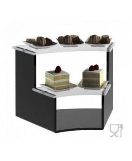 E-602 - Alzate/Tavolino multiuso a 2 rpiani in plexiglass nero e trasparente - Spessore 5 mm