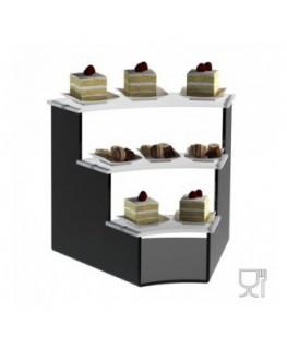 E-603 - Alzate/Tavolino multiuso a 3 rpiani in plexiglass nero e trasparente - Spessore 5 mm