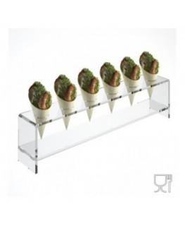 Alzate multiuso in plexiglass trasparente per finger food...