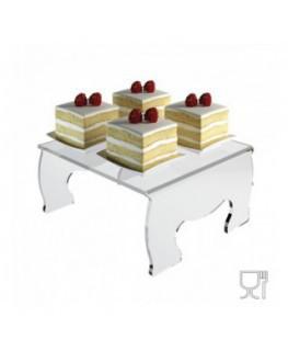 Alzatina/Tavolino multiuso in plexiglass trasparente -...