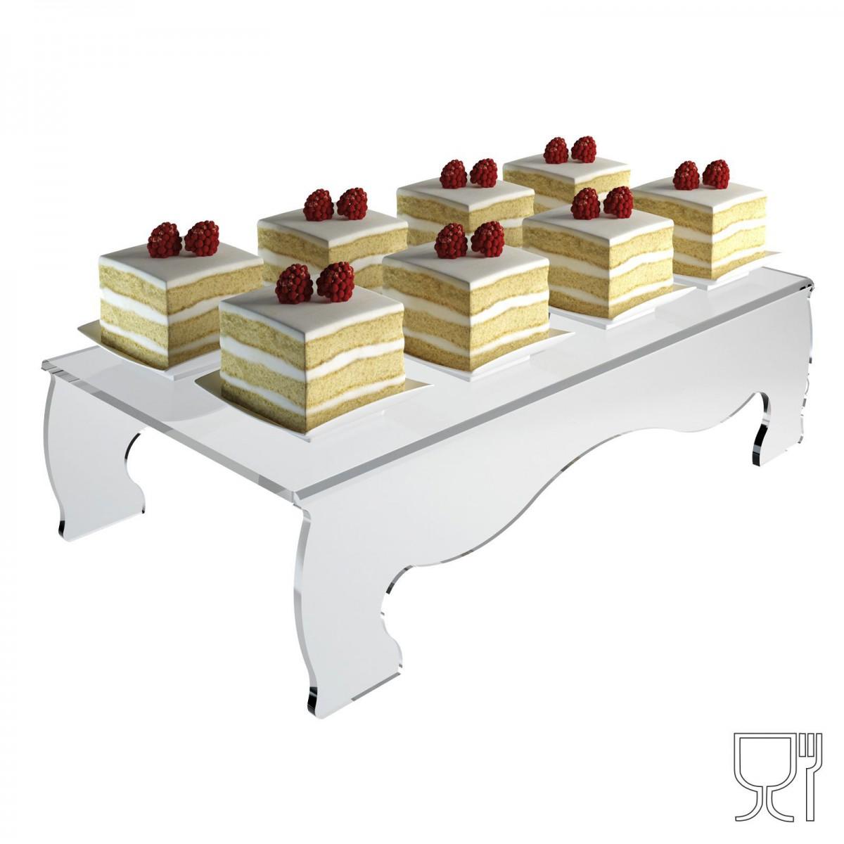 Alzatina/Tavolino multiuso in plexiglass trasparente
