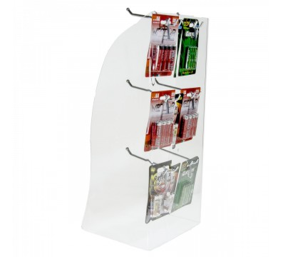 Clear acrylic countertop display case for battery AA or AAA blisters and multi packs, toys and games etc.