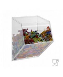Porta caramelle da parete in plexiglass trasparente CON...