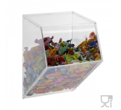 Porta caramelle da parete in plexiglass trasparente CON sportello