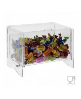 Contenitore e portacaramelle in plexiglass trasparente
