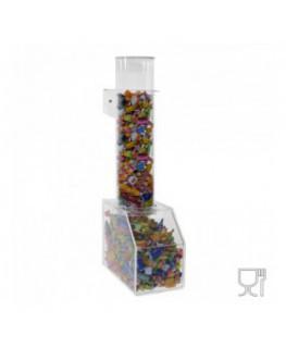 E-658 - Porta caramelle da banco in plexiglass trasparente CON sportello