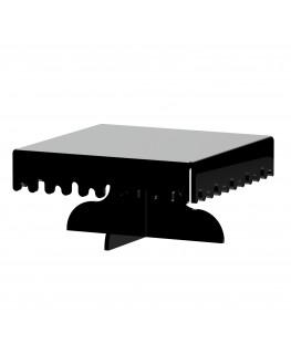 E-596 - Alzate multiuso in plexiglass nero - Spessore 5 mm