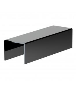 E-599 - Alzate/Tavolino multiuso in plexiglass nero - Spessore 5 mm