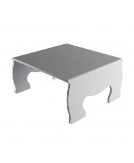 E-620 - Alzatina/Tavolino multiuso in plexiglass bianco - Spessore 5 mm
