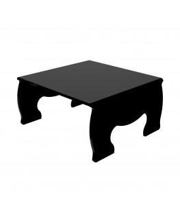 E-621 - Alzatina/Tavolino multiuso in plexiglass nero - Spessore 5 mm