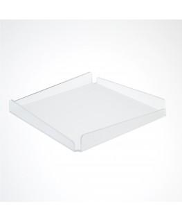 E-630 - Vassoio in plexiglass satinato - Spessore 3 mm - H 2 cm