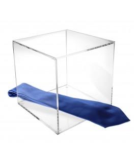 - Cubo - Teca 4 Lati Chiusi e 2 Aperti - Plexiglass Trasparente - Spessore 5 mm