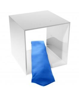 - Cubo - Teca 4 Lati Chiusi e 2 Aperti - Plexiglass Bianco - Spessore 5 mm