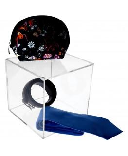 - Cubo - Teca 5 Lati Chiusi e 1 Aperto - Plexiglass Trasparente - Spessore 5 mm