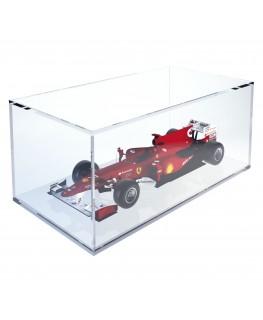 E-373 TEC-X - PERSONALIZZABILE - Cubo - Teca In Plexiglass Trasparente - Spessore 5 mm 5 Lati Chiusi e Fondo Appoggiato su Pa...