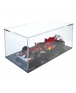 E-374 TEC-X - PERSONALIZZABILE - Cubo - Teca In Plexiglass Trasparente - Spessore 5 mm 5 Lati Chiusi e Fondo Appoggiato su Pa...