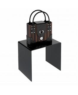 - Tavolino - Alzatina Plexiglass Nero - Dimensioni massime 70x70x50 cm. - Spessore 10 mm