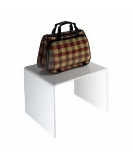 - Tavolino - Alzatina Plexiglass Bianco - Dimensioni massime 40x30x35 cm. - Spessore 5 mm