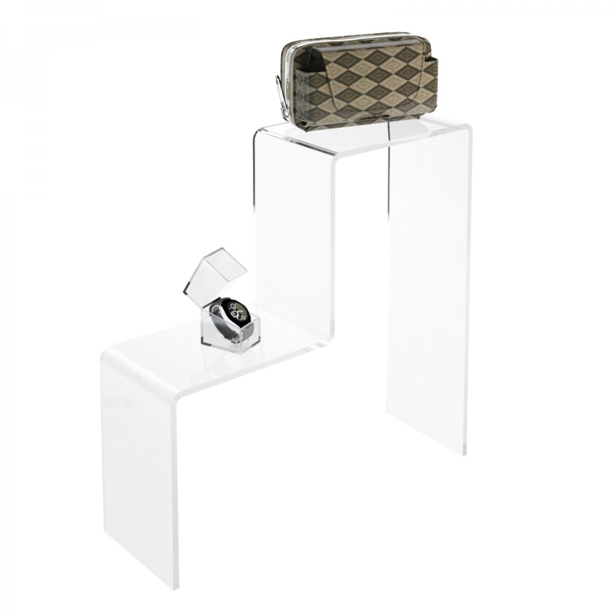 Scaletta - Alzatina Monofacciale 2 Livelli - Plexiglass ...